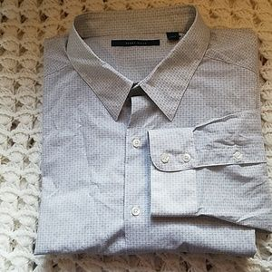 Perry Ellis mens long sleeve button up dress shirt
